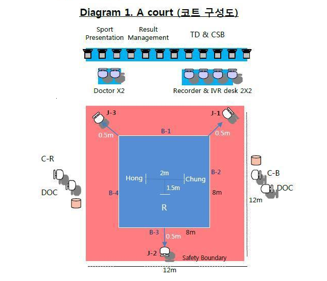 Olympic TKD court diagram cropped